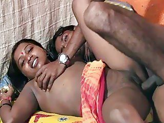 Hairy Indian babe and her boyfriend fuck wildly in bed