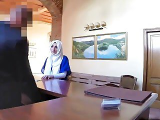 Arab babe is getting fucked in hotel room by some rich and horny dude
