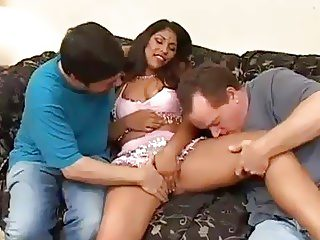 Super hot Indian princess fucking two cocks