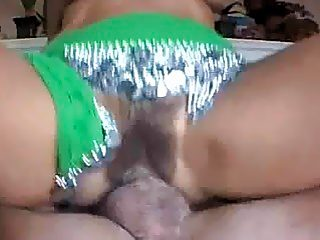 Sexy indian teen slut jumping on a big penis