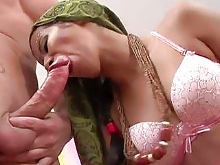 Nasty indian wife sucking hard and fat penis