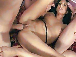 Indian bitch getting screwed by 3 big dicks
