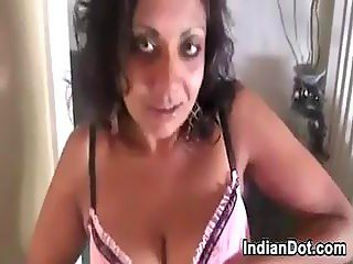 Mature Indian Does A Striptease