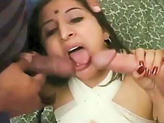 Amateur indian whore getting fucked by 2 americans