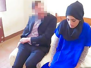21 year old Arab babe gets talked into sex with rich stranger
